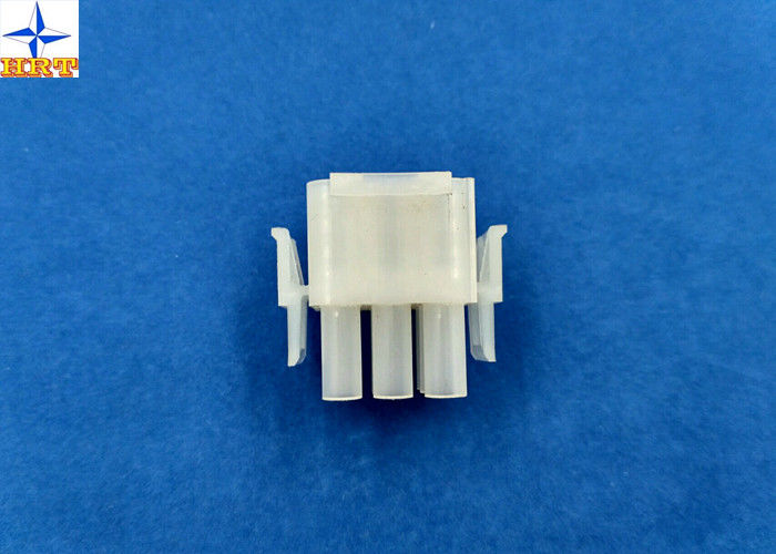 6.35mm Pitch Wire To Wire Connectors Triple Row PA66 Material Crimp type Power Connector